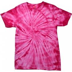 textil T-shirts m. korte ærmer Colortone Tonal Spider Pink