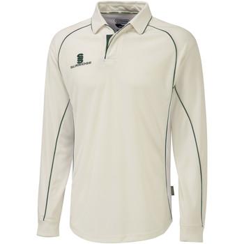 textil Herre Polo-t-shirts m. lange ærmer Surridge  White/Green trim