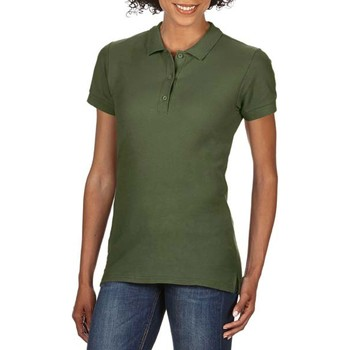 textil Dame Polo-t-shirts m. korte ærmer Gildan 85800L Military Green
