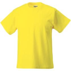 textil Børn T-shirts m. korte ærmer Jerzees Schoolgear ZT180B Yellow