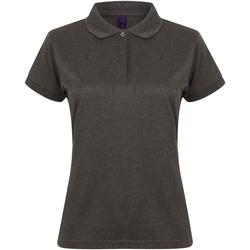 textil Dame Polo-t-shirts m. korte ærmer Henbury Coolplus Heather Charcoal