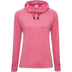 textil Dame Sweatshirts Awdis Cowl Neck Electric Pink Melange
