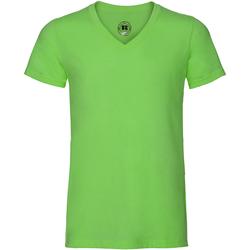 textil Herre T-shirts m. korte ærmer Russell J166M Green Marl
