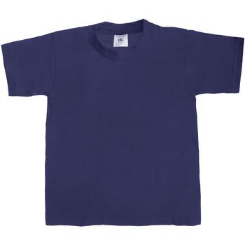 textil Børn T-shirts m. korte ærmer B And C Exact 190 Navy Blue