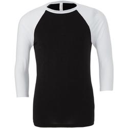textil Herre Langærmede T-shirts Bella + Canvas CA3200 Black/White