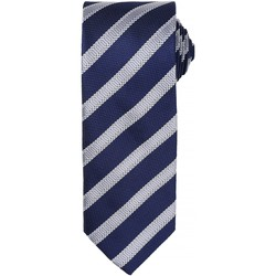 textil Herre Slips og accessories Premier PR783 Navy/Silver