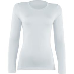 textil Dame Langærmede T-shirts Rhino RH003 White