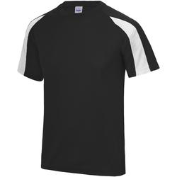 textil Herre T-shirts m. korte ærmer Just Cool JC003 Jet Black/Arctic White