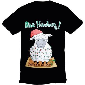 textil Herre T-shirts m. korte ærmer Christmas Shop 178642 Black Bah Humbug
