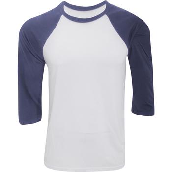 textil Herre Langærmede T-shirts Bella + Canvas CA3200 White/Denim