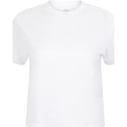 textil Dame T-shirts m. korte ærmer Skinni Fit Cropped Boxy White