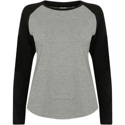 textil Børn Langærmede T-shirts Skinni Fit SM271 Heather Grey / Black
