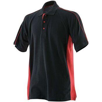 textil Herre Polo-t-shirts m. korte ærmer Finden & Hales LV322 Black/Red