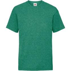 textil Børn T-shirts m. korte ærmer Fruit Of The Loom 61033 Retro Heather Green