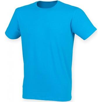 textil Herre T-shirts m. korte ærmer Skinni Fit SF121 Sapphire
