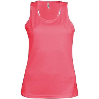 textil Dame Toppe / T-shirts uden ærmer Kariban Proact Proact Fluorescent Pink
