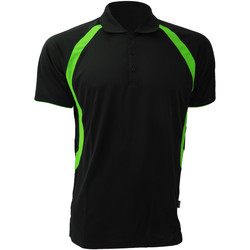 textil Herre Polo-t-shirts m. korte ærmer Gamegear Riviera Black/Flourescent Lime