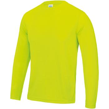 textil Herre Langærmede T-shirts Awdis JC002 Electric Yellow