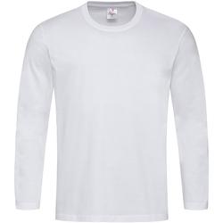 textil Herre Langærmede T-shirts Stedman  White