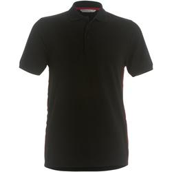 textil Herre Polo-t-shirts m. korte ærmer Kustom Kit KK603 Black/ Red