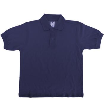 textil Børn Polo-t-shirts m. korte ærmer B And C PK486 Navy Blue