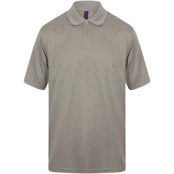 textil Herre Polo-t-shirts m. korte ærmer Henbury HB475 Heather Grey