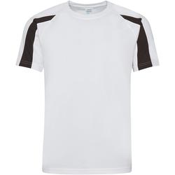 textil Herre T-shirts m. korte ærmer Just Cool JC003 Arctic White/Jet Black