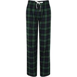 textil Dame Pyjamas / Natskjorte Skinni Fit Tartan Navy/Green Check