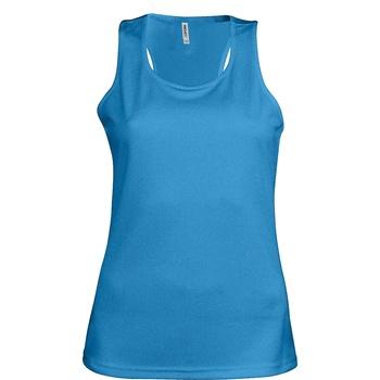 textil Dame Toppe / T-shirts uden ærmer Kariban Proact Proact Aqua Blue