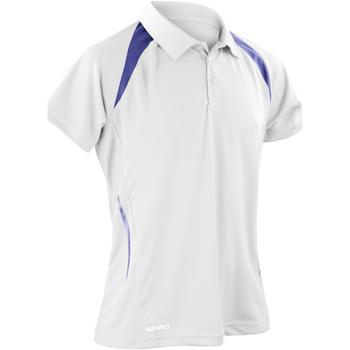 textil Herre Polo-t-shirts m. korte ærmer Spiro S177M White/Navy