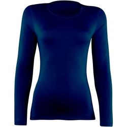 textil Dame Langærmede T-shirts Rhino RH003 Navy