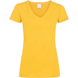 textil Dame T-shirts m. korte ærmer Universal Textiles Value Gold