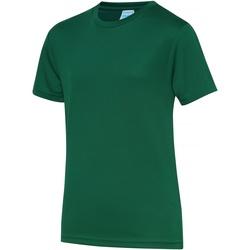 textil Børn T-shirts m. korte ærmer Awdis JC01J Bottle Green