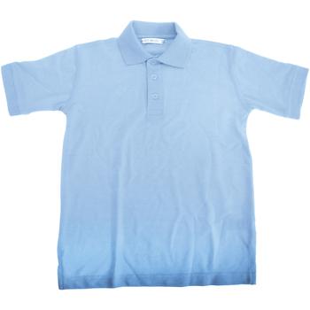 textil Dreng Polo-t-shirts m. korte ærmer Kustom Kit KK406 Light Blue
