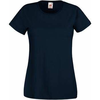 textil Dame T-shirts m. korte ærmer Fruit Of The Loom 61372 Deep Navy