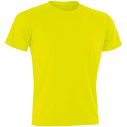 textil Herre T-shirts m. korte ærmer Spiro Aircool Flo Yellow