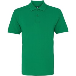 textil Herre Polo-t-shirts m. korte ærmer Asquith & Fox AQ010 Washed Kelly