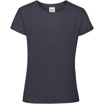 textil Pige T-shirts m. korte ærmer Fruit Of The Loom 61017 Navy Blue