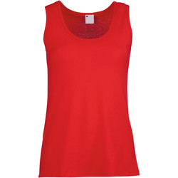 textil Dame Toppe / T-shirts uden ærmer Universal Textiles Fitted Classic Red
