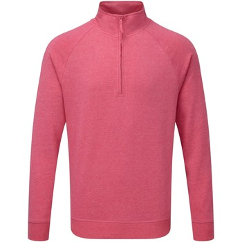 textil Herre Pullovere Russell 1/4 Zip Pink Marl