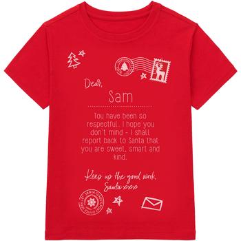 textil Børn T-shirts m. korte ærmer Christmas Shop CS145 Red