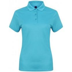 textil Dame Polo-t-shirts m. korte ærmer Henbury HB461 Turquoise