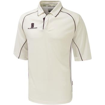 textil Dreng Polo-t-shirts m. korte ærmer Surridge SU01B White/Maroon trim
