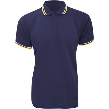 textil Herre Polo-t-shirts m. korte ærmer Kustom Kit KK409 Navy/Sun Yellow