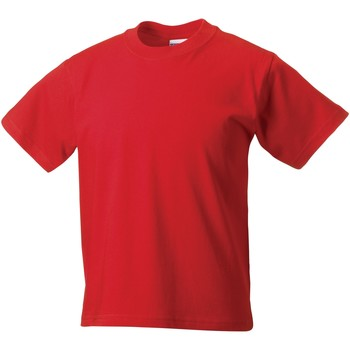 textil Børn T-shirts m. korte ærmer Jerzees Schoolgear ZT180B Bright Red