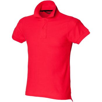 textil Herre Polo-t-shirts m. korte ærmer Skinni Fit SFM47 Bright Red