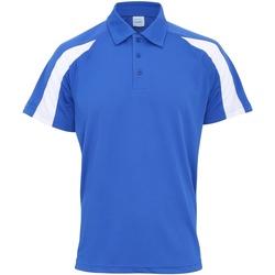 textil Herre Polo-t-shirts m. korte ærmer Awdis JC043 Royal Blue/Arctic White