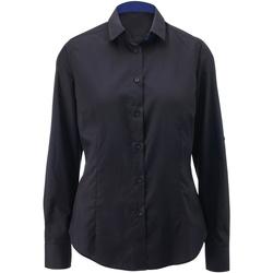 textil Dame Skjorter / Skjortebluser Alexandra AX060 Black/ Royal