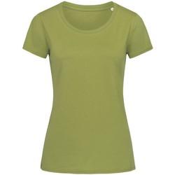textil Dame T-shirts m. korte ærmer Stedman Stars  Earth Green