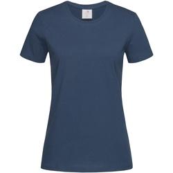 textil Dame T-shirts m. korte ærmer Stedman  Navy